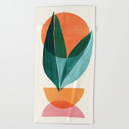 Nature Stack II / Abstract Shapes Illustration Beach Towel