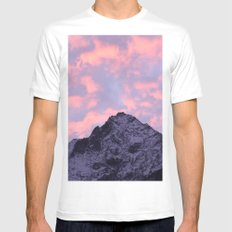 Good morning, mountain! MEDIUM Mens Fitted Tee White