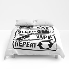 Eat Sleep Vape Repeat - Vaping E-Cigarette Vaper Comforters