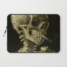 Skull of a Skeleton with Burning Cigarette by Vincent van Gogh Laptop Sleeve