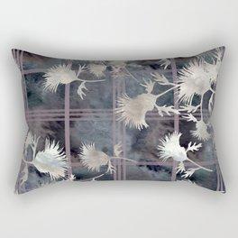 Thistle Flower Felted Plaid Pattern Rectangular Pillow