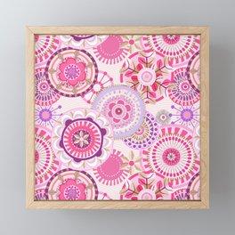 Folk Mandala (pink) Framed Mini Art Print