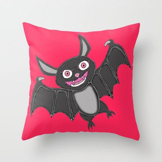 Gone Batty Throw Pillow