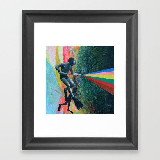 Cave Diver Framed Art Print