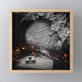 Do Not Squander Time Framed Mini Art Print