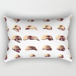 3D Animal Skulls Rectangular Pillow