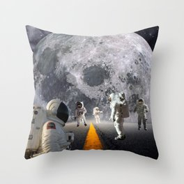 The Lost Astronauts Throw Pillow