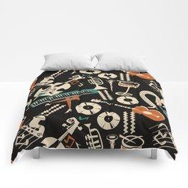 Jazz Rhythm (negative) Comforters