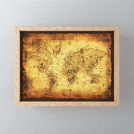 Arty Vintage Old World Map Framed Mini Art Print