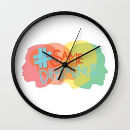 #SameDifference Heads & Hashtag Wall Clock