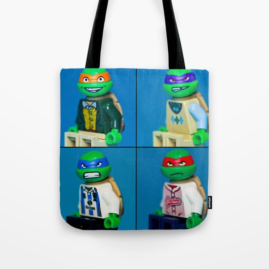 Dorky Teenage Yearbook Turtles Tote Bag