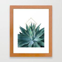 Agave geometrics Framed Art Print