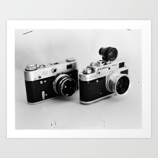 Classic Cameras Art Print