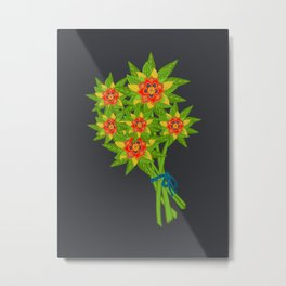 Folk Floral Bouquet  Metal Print
