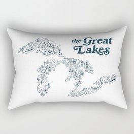 The Greatest Lakes Rectangular Pillow