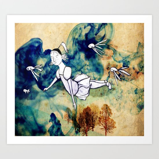 I'll fly with you Art Print