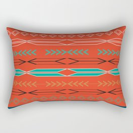 Navajo motifs in red Rectangular Pillow