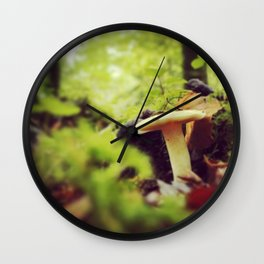 mushroom, hazelwood, sligo Wall Clock