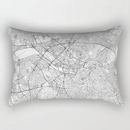 Ankara Map Line Rectangular Pillow
