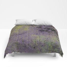 Darkened Sky - Textured, abstract painting Comforters