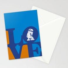 Robot LOVE - Blue Stationery Cards