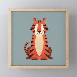 Whimsy Tiger Framed Mini Art Print
