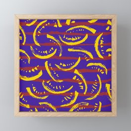 Abstract Pattern Terrazzo Yellow Purple Red Framed Mini Art Print