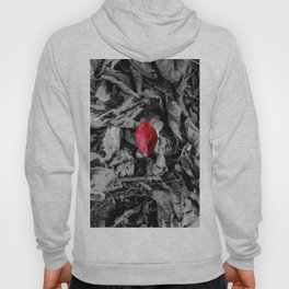 Red detail on black and white Hoody