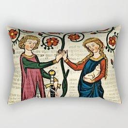 Codex Manesse: Bernger von Horheim Rectangular Pillow