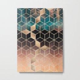 Ombre Dream Cubes Metal Print