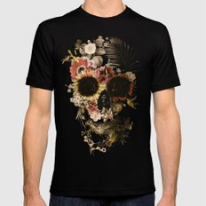 Garden Skull Light Black MEDIUM Mens Fitted Tee