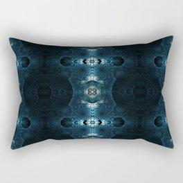 Fractal Art - Blue Corals Rectangular Pillow