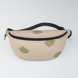 Round Bunny Pattern- Brown Tan Fanny Pack