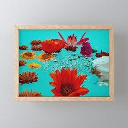 Flower Bath 3 Framed Mini Art Print