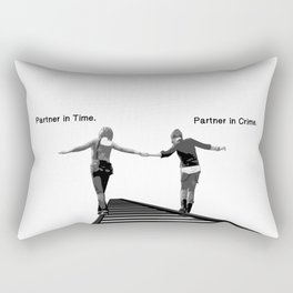 Partner in Time, Partner in Crime, Max Caulfield and Chloe Price Train Tracks Rectangular Pillow
