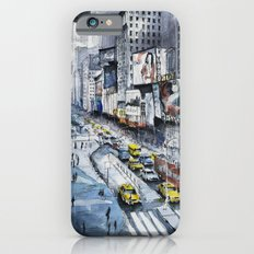 Time square - New York City - Illustration watercolor painting Slim Case iPhone 6s