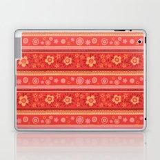 Bright Red Flowers Laptop & iPad Skin