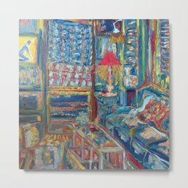 The Beautiful, Messy, Eclectic Room of the Artist When Nobody Else is Around by Pierre Bonnard Metal Print