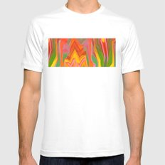 Red Mountains Mens Fitted Tee White MEDIUM
