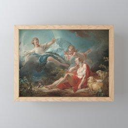 Diana and Endymion Oil Painting by Jean-Honoré Fragonard Framed Mini Art Print