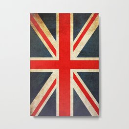 Vintage Union Jack British Flag Metal Print