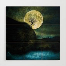 The Moon and the Tree. Wood Wall Art