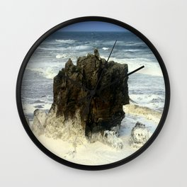Sea Foam Residue Wall Clock