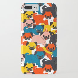 COLORED PUGS PATTERN no2 iPhone Case