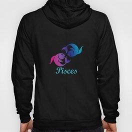 Pisces Water Sign Graphic Zodiac Birthday Gift Idea Horoscope Design Hoody