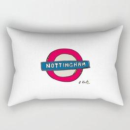 tube sign Rectangular Pillow