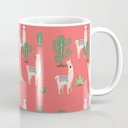 Llama with Cacti Coffee Mug