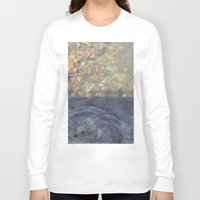 maine Long Sleeve T-shirts featuring Maine Water by Christina Hand