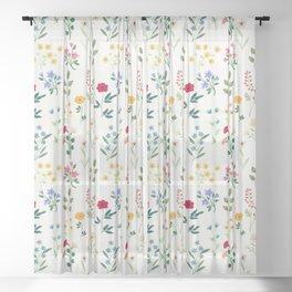 Spring Botanicals Sheer Curtain