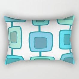 MidCentury Modern Swatches (Turquoise) Rectangular Pillow